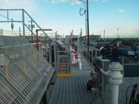 Platform with Loading Rack for Railcar